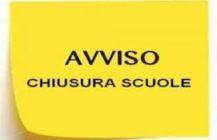 SCUOLA CHIUSA – 24-29 Febbraio 2020